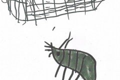 Tegnet af Alba. Barnebarn af Ellen og Keld Petersen