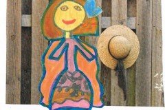 Tegnet af Clara. Oldebarn af Frigge og Erling Køster